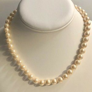 Charter Club Silver-Tone Pink 8mm Pearl Necklace